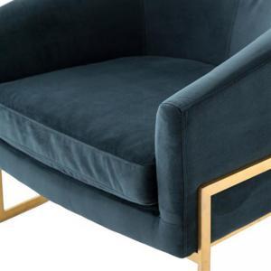 Ghế Sofa Đơn Chân Inox Mạ Vàng